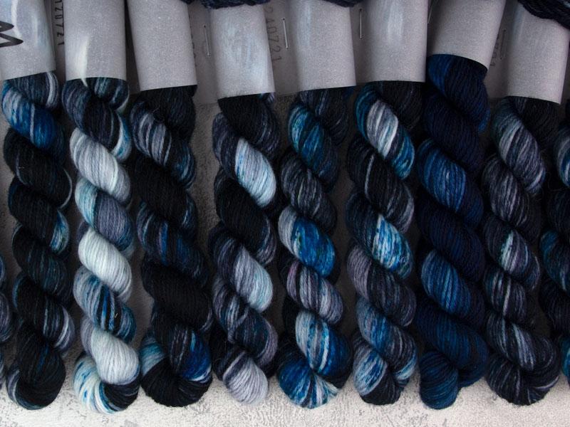 NIGHT KING - 20g mini sock yarn