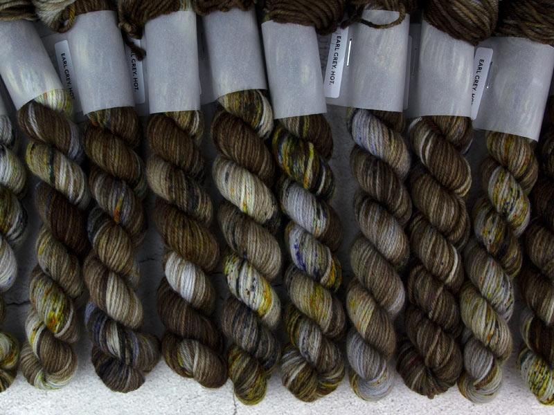 EARL GREY. HOT. - 20g mini sock yarn