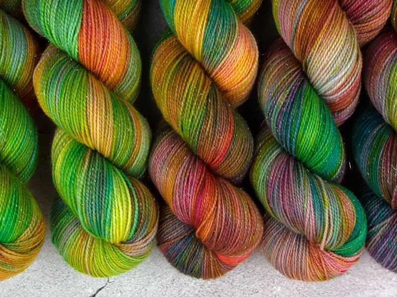 BUFFY - 100g Sockenwolle glitzer