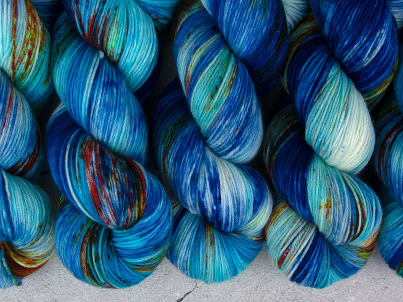 DIAMOND CITY RADIO - 100g merino sock yarn