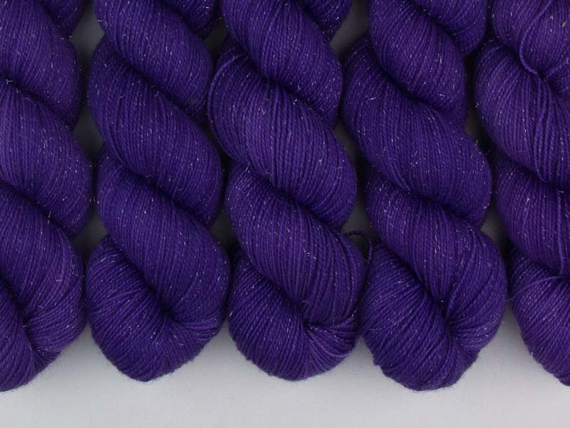 LEELA - 100g Sockenwolle glitzer
