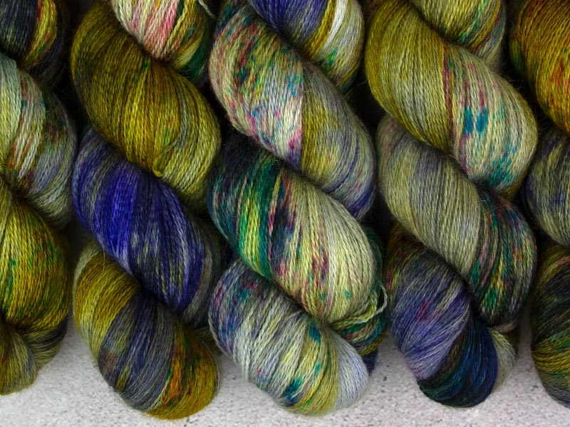 RELEASE THE KRAKEN - 100g Alpaca Silk Cashmere Lace