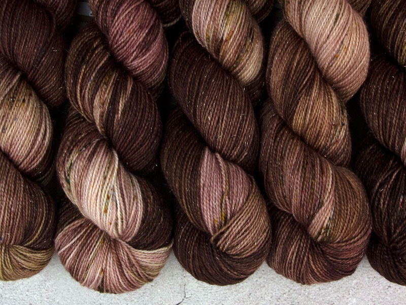 KHALEESI - 100g Sockenwolle glitzer